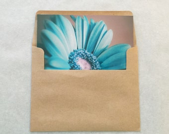 Birthday card, Note card, Nature card, blank card, Original photo, blue flower, surreal fantasy flower card, photo card, unique card