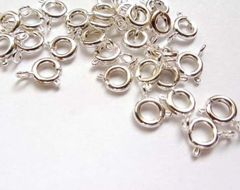 12 Silver Plated Spring Rings - 14-9