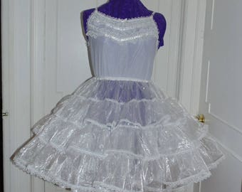 Organza Crinoline Petticoat Adult Baby Sissy Dress Custom Made