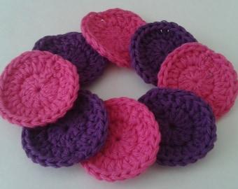 Reusable Cotton Rounds,Makeup Removers, Reusable Crocheted Facial Scrubbies Set of 8