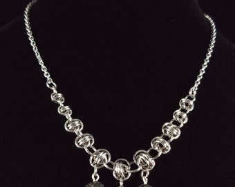 Lava Stone Diffuser Chainmaille Necklace