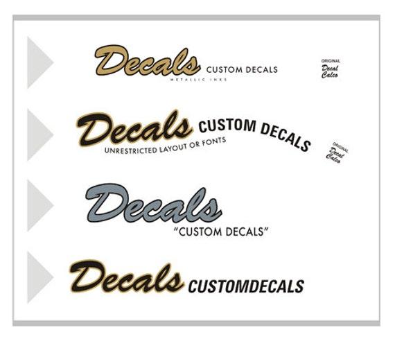 2 custom waterslide decals stickers guitar headstock