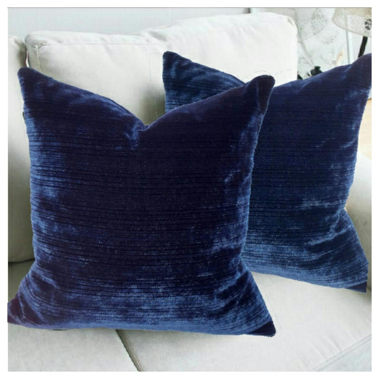 Navy Blue Velvet Pillow Cover Soft Velvet Cushion Royal Blue
