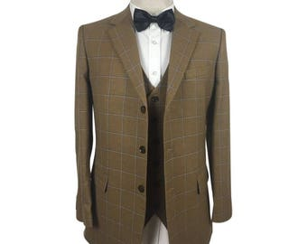 Bespoke Suit in Brown Check