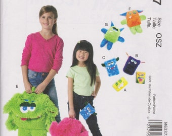McCall's Crafts Uncut Sewing Pattern M6337 Monster Backpack, Cases, Toys