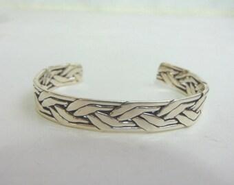 Estate Sterling Silver Cuff Bracelet 23.5g E3478