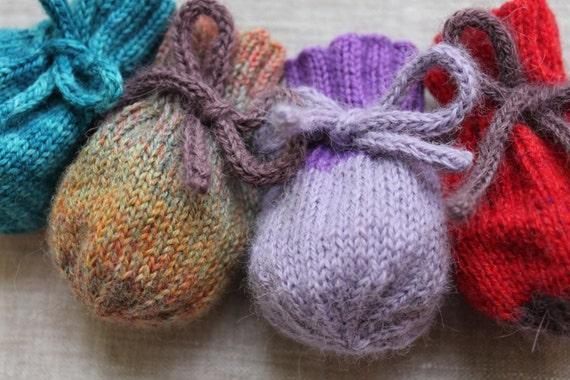 Knitting Pattern Knit Treasure Bag Scrap Yarn Case Knitted