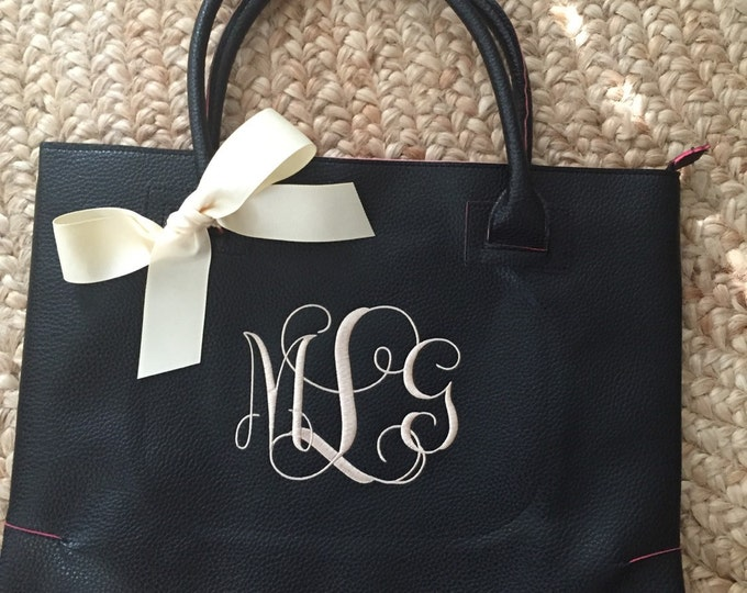 Monogrammed Purse, Fall Monogrammed Bag, Fall Purse, Bridesmaid Gift, Monogrammed Bag
