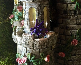 Fairy garden, fairy tale, fairy dragon, micro mini dragon, TINY dragon, purple dragon