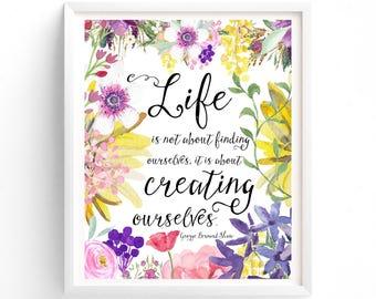 Art Prints, Wall Art, Prints, Quote Prints, Art Prints, Printable Art, Instant Download Printable Art, George Bernard Shaw