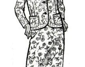 Anne Adams 4583 Distinguished Jacket & Skirt / ca. 1960's / SZ14 UNCUT