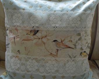 Birds and Butterflies Pillow