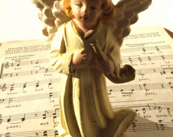 Vintage Angel Figurine with horn