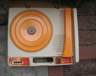 vintage fisher-price record player.