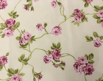 Rose Ramage Cotton Fabric