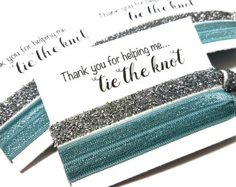 Thank You For Helping Me Tie The Knot Hair Tie Favors | Bachelorette Party Favors | Bridesmaid Hair Ties | Bridal Shower | Bridesmaid Gift