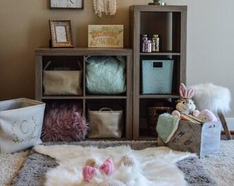 Polar Bear Rug, Faux Bear Rug, woodland nursery, Baby room decor, animal playmat ClaraLoo