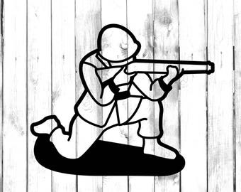 Toy Soldier with Rifle - Car/Truck/Home/Laptop/Computer/Phone Decal