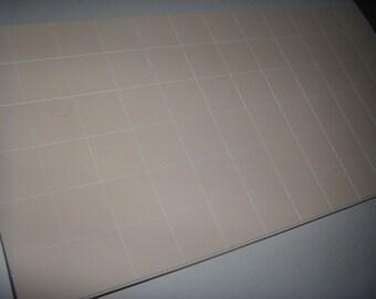"Dollhouse Beige Tile Flooring Sheet  1/12 scale  4 3/4"" X  9 1/2"" sheet (ceramic look)"