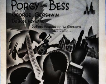 Summertime / Summer Time, vintage sheet music by George Gershwin and DuBose Heyward, Porgy and Bess 1935 with Guitar tablature