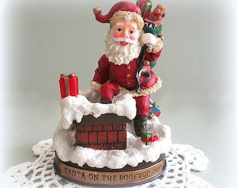 Christmas Santa Figurine Vintage Santa Claus Figurine Santa Decor Father Christmas Village Santa Claus Decor Santa with Toys Santa Figure