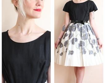 1950s Dress // Spring Blossom Dress // vintage 50s dress