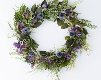 Grevillea and Globe Thistle Wreath | Spring Wreath | Spring Wreaths for Front Door | Easter Wreath | Wreaths for Front Door | Handmade