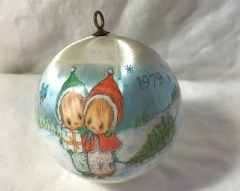 1979 Hallmark Betsey Clark Silk Christmas Ornament