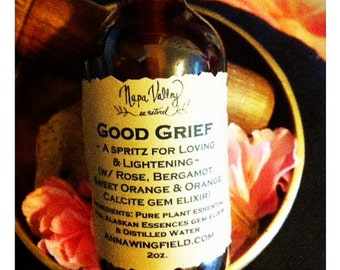 Good Grief Aroma Mist in 2oz glass bottle (will be in either amber or cobalt bottle)