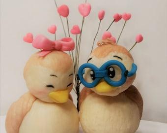 Custom Wedding Topper Lovebirds