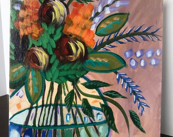 Abstract Flower Vase Painting