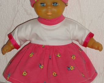 Dress, headwrap and slippers for doll doll 30 cm Corolla raynal, bella, gege Compatible