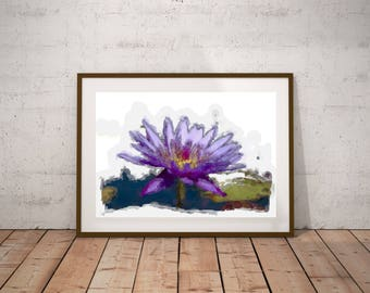 Flower illustration printable Digital instant download