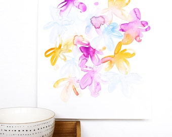 original watercolor painting, floral watercolor, loose flowers, abstract painting