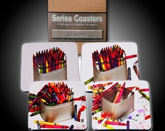 Crayon Box - 4 storytelling Coasters