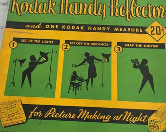 Vintage Pair of Kodak Handy Reflectors Model C For Taking Pictures at Night ~ 35mm Film Accessory