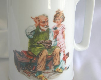 Norman Rockwell Inspired Mug | The Cobbler | The Museum | Vintage 1986