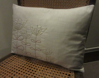 Embroidered Seedhead Cushion