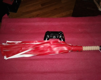 Vegan Red Faux Leather Flogger.