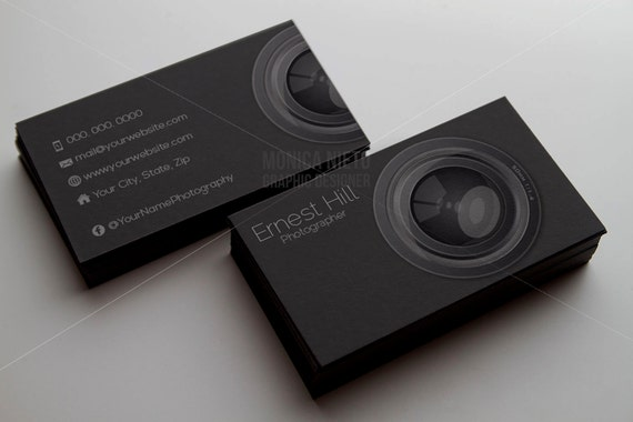 Printable photography business card template photographer accmission Images