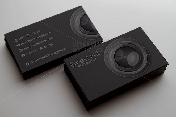 Printable photography business card template photographer flashek Images