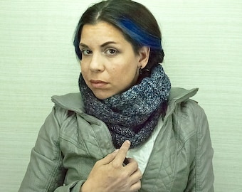 Blue Tones Scarf Circle Cowl