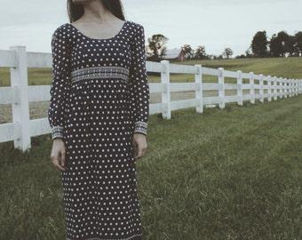 Blue Buffalo Peasant Dress