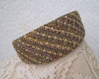 Wide Fabric Headband chenille gold