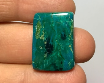 50% Discount Chrysocolla Cabochon, 25x19mm, Chrysocolla 20917, Lowest Price Cabochons, Discounted Price , Jewelry Wholesale price