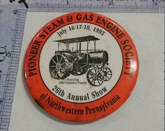 10%OFF3DAYSALE Vintage  steam engine society club pin