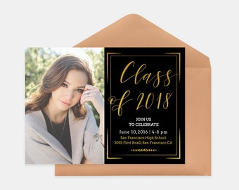 Senior Graduation Announcement Template for Photographers PSD Flat card - Graduation Template - Photography Template  G010