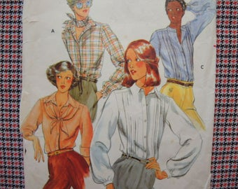 vintage 1970s Butterick sewing pattern 5569 misses blouse size 12