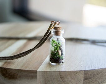 Handcrafted Moss Terrarium Necklace