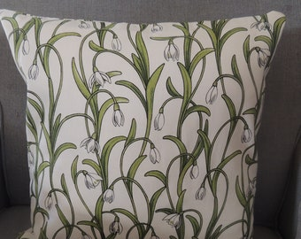 Pillow cover 40 x 40 cm with zipper snowdrop